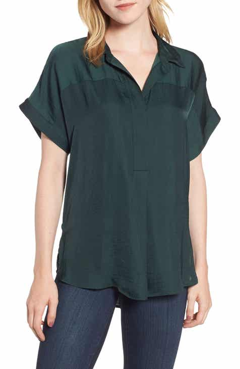 ad76a628481 Vince Camuto Hammered Satin Blouse