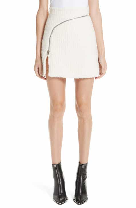 Alexander Wang Zip Detail Tweed Miniskirt by ALEXANDER WANG