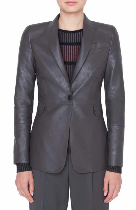 Akris punto Perforated Leather Blazer by AKRIS PUNTO