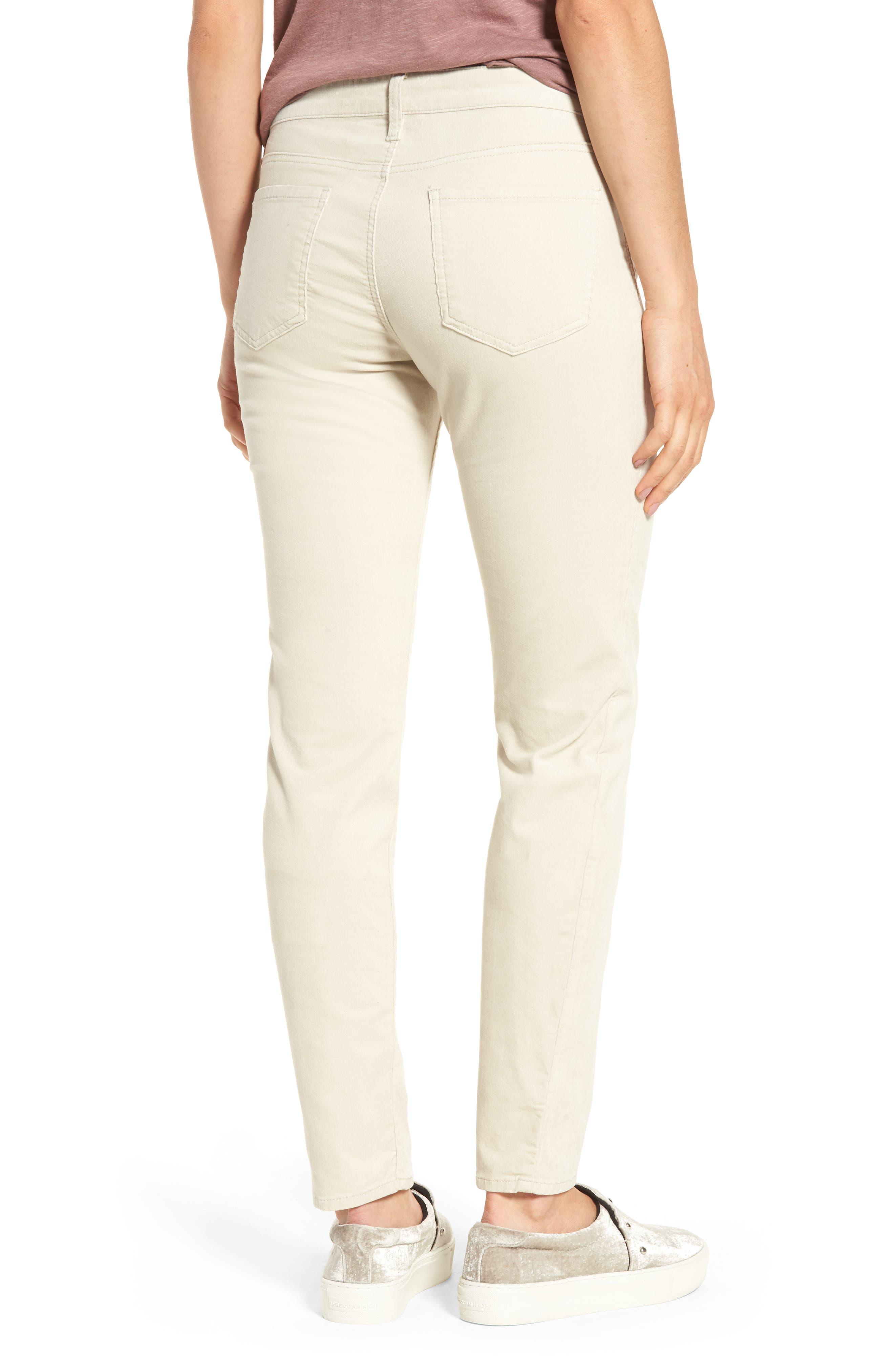 Diana Stretch Corduroy Skinny Pants,                             Alternate thumbnail 2, color,                             Light Tan 2