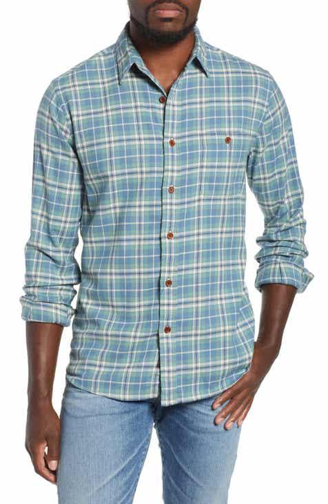 203a75357d3 Faherty Seaview Stretch Organic Cotton Plaid Sport Shirt