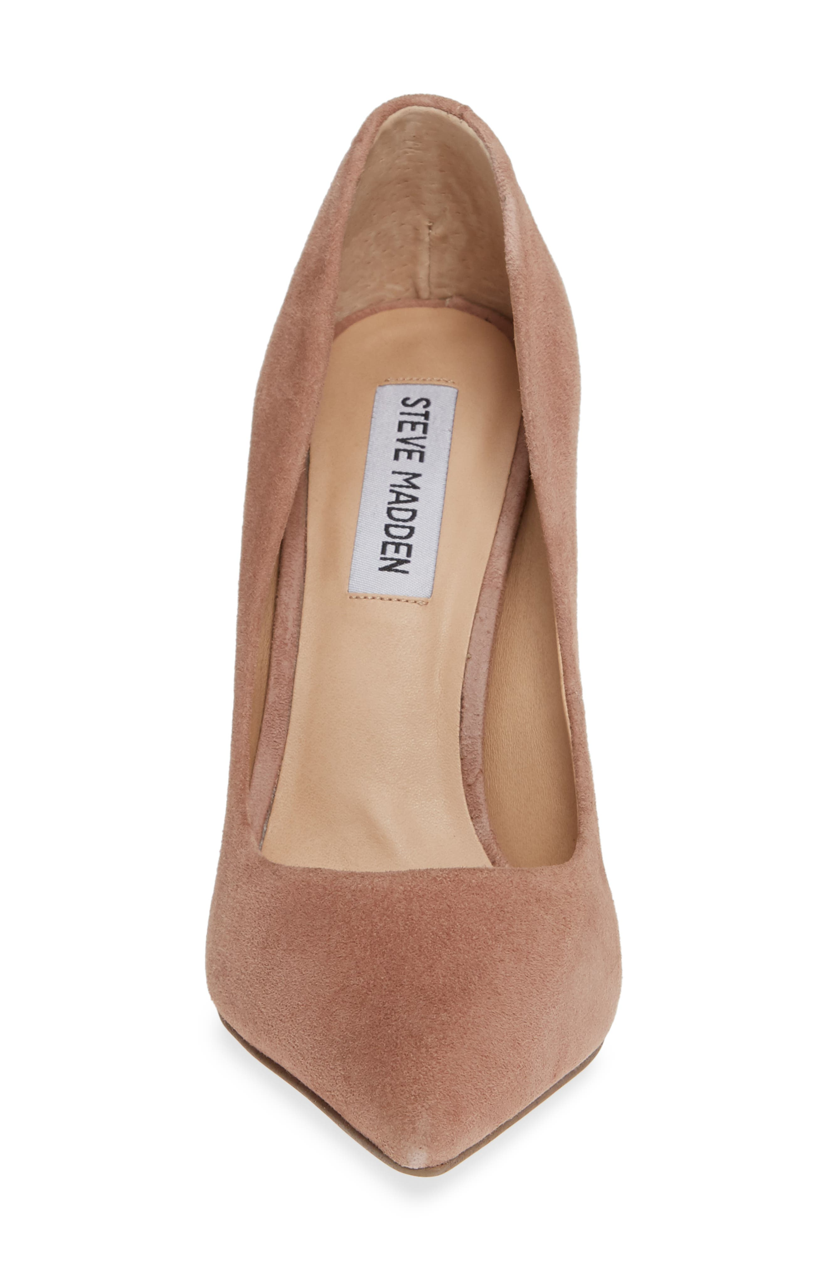 Daisie Pointy-Toe Pump,                             Alternate thumbnail 6, color,                             Tan Suede