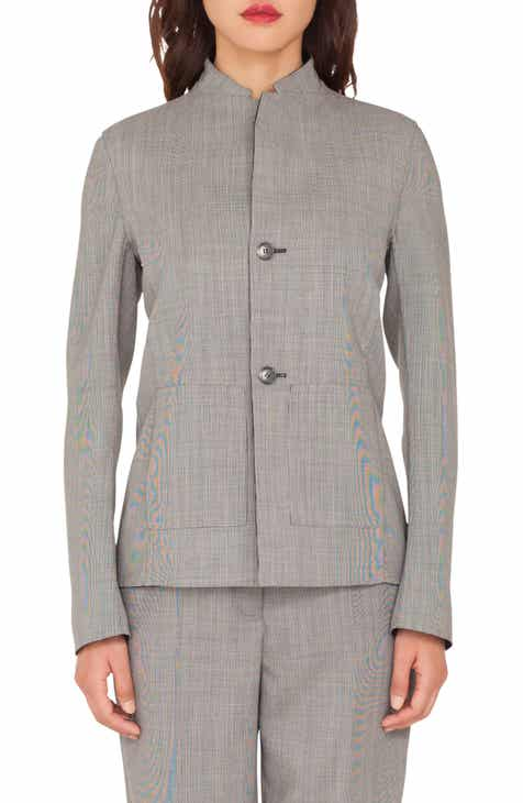 Akris Reversible Double Face Wool Blend Blazer by AKRIS