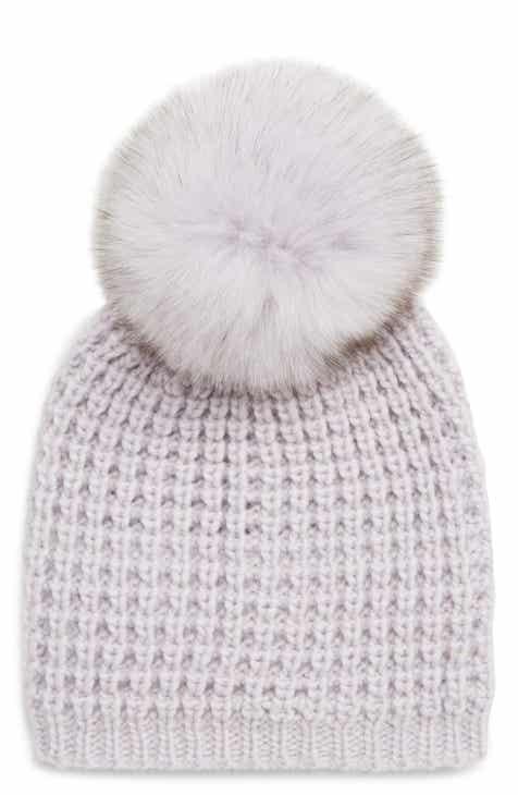 8f860432a75 Kyi Kyi Genuine Fox Pompom Hat