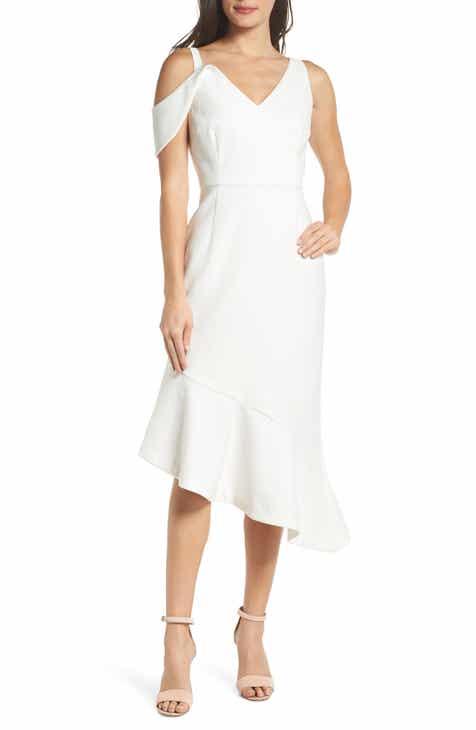 chelsea28 sleeveless asymmetrical midi dress
