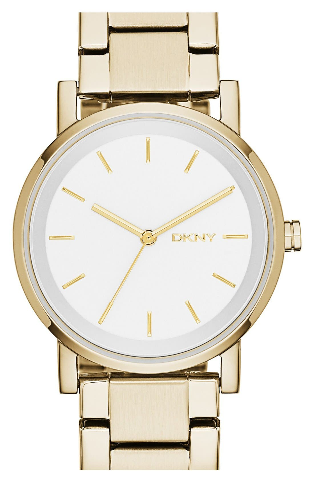 Alternate Image 1 Selected - DKNY 'Soho' Round Watch, 34mm