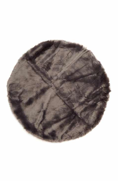 d3d96111dc576 Nordstrom at Home Cuddle Up Faux Fur Round Rug