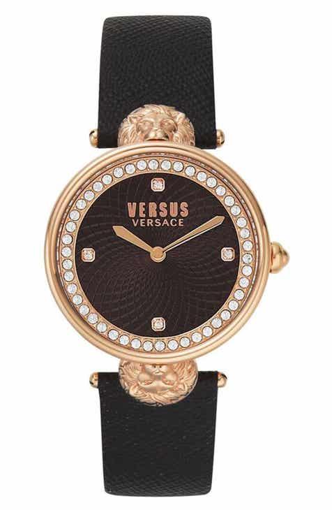 472c47f513 VERSUS Versace Victoria Leather Strap Watch