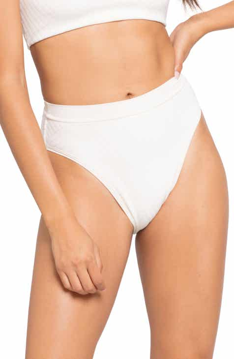 L Space French Cut High Waist Textured Swim Bottoms by L SPACE