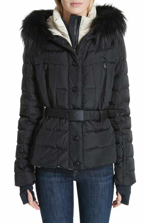 21bff4ff37f Moncler Beverley Genuine Fox Fur Trim Quilted Down Coat