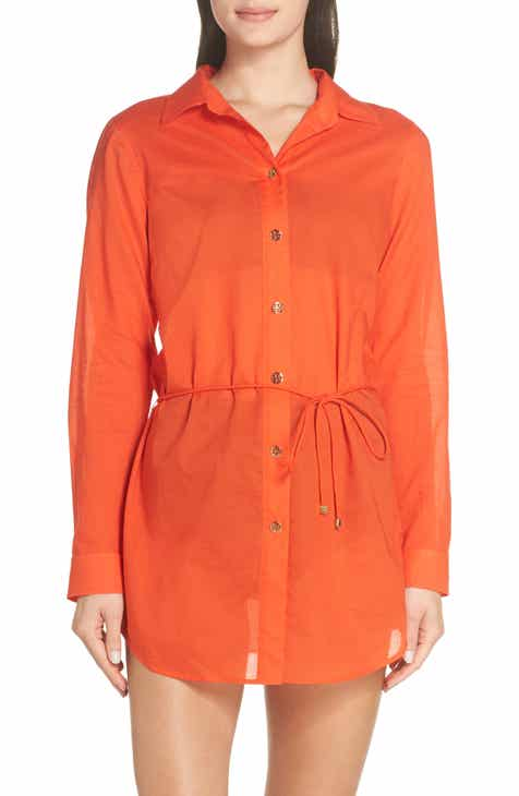 Tory Burch Embroidered Beach Cover-Up Dress by TORY BURCH