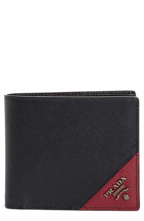 843d9375b9ab Prada Saffiano Leather Billfold Wallet