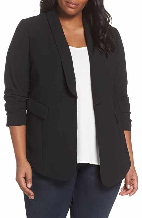 f30de906ba9 Sejour Gathered Sleeve Blazer (Plus Size)