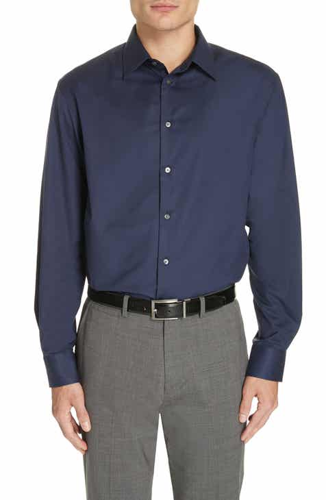 868cb4f2a1 Emporio Armani Modern Fit Stretch Solid Dress Shirt. $245.00. Buy online,  pick up in store.