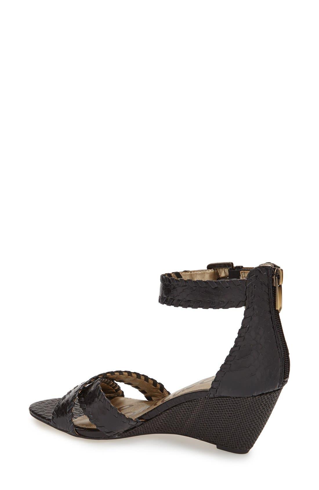 Alternate Image 2  - Sam Edelman 'Silvia' Ankle Strap Wedge Sandal (Women)