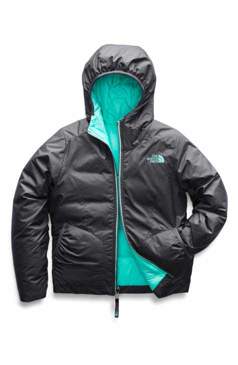 a4eba00b3d The North Face Perrito Reversible Water Repellent Heetseaker™ Insulated  Jacket (Big Girls)