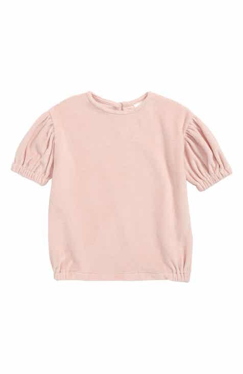 Stem Puff Sleeve Velour Dress (Baby)