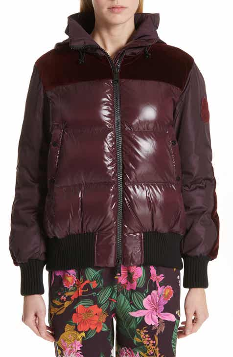 Moncler Elanion Velvet Trim Down Puffer Coat 2a69a97ad