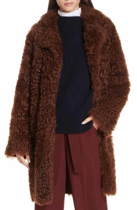 f1c3414f3248 Vince Reversible Genuine Shearling Coat