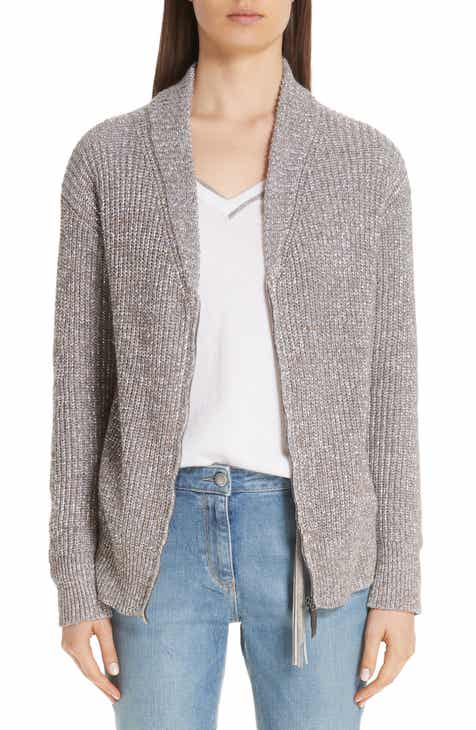 Fabiana Filippi Metallic Knit Cardigan by FABIANA FILIPPI