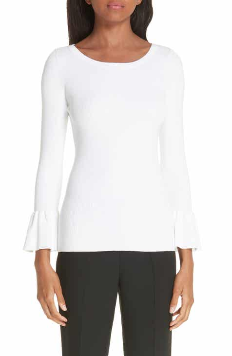 Michael Kors Ruffle Cuff Ribbed Sweater by MICHAEL KORS
