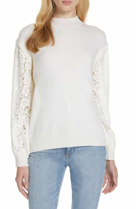 Clu Lace Blouson Sleeve Sweater by CLU