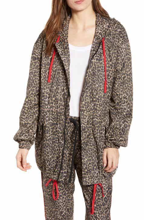 b75bbef95f Pam   Gela Leopard Print Jacket