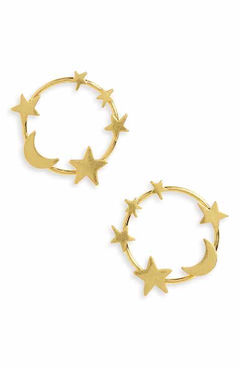 Madewell Star & Moon Hoop Earrings