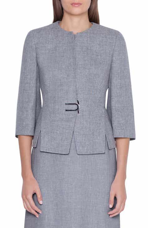 3cfb3d9cb7b Akris Double Face Linen   Wool Jacket