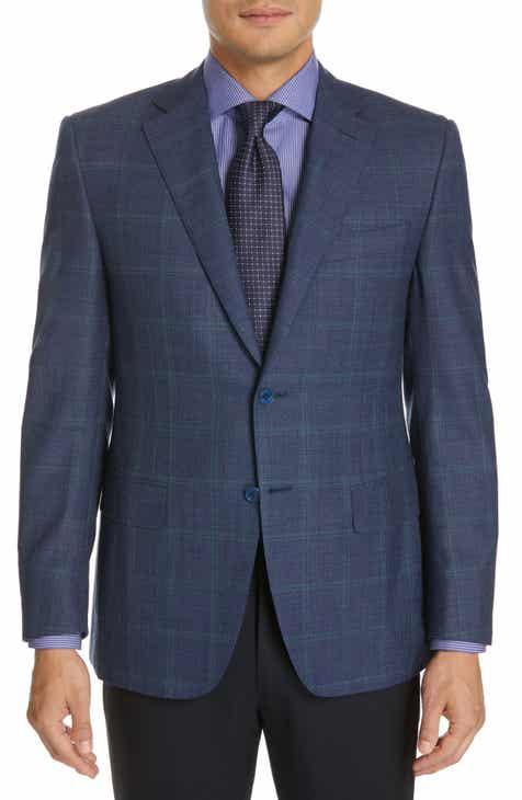 6a5b1a899a6 Canali Sienna Classic Fit Windowpane Wool Sport Coat