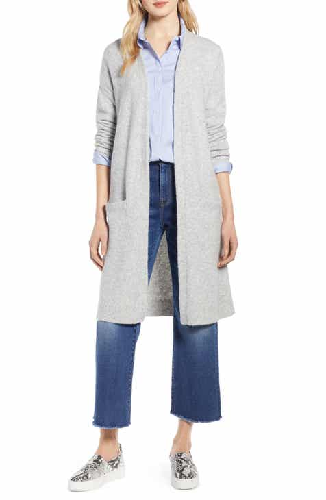 ca398762481 Halogen® Long Open Front Cardigan (Regular   Petite)