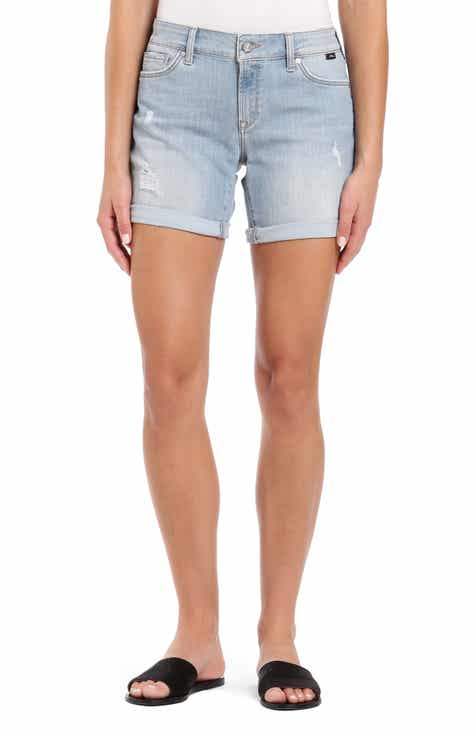 36a67f8848d10 Mavi Jeans Pixie Distressed Cuffed Denim Shorts (Light Ripped Vintage)