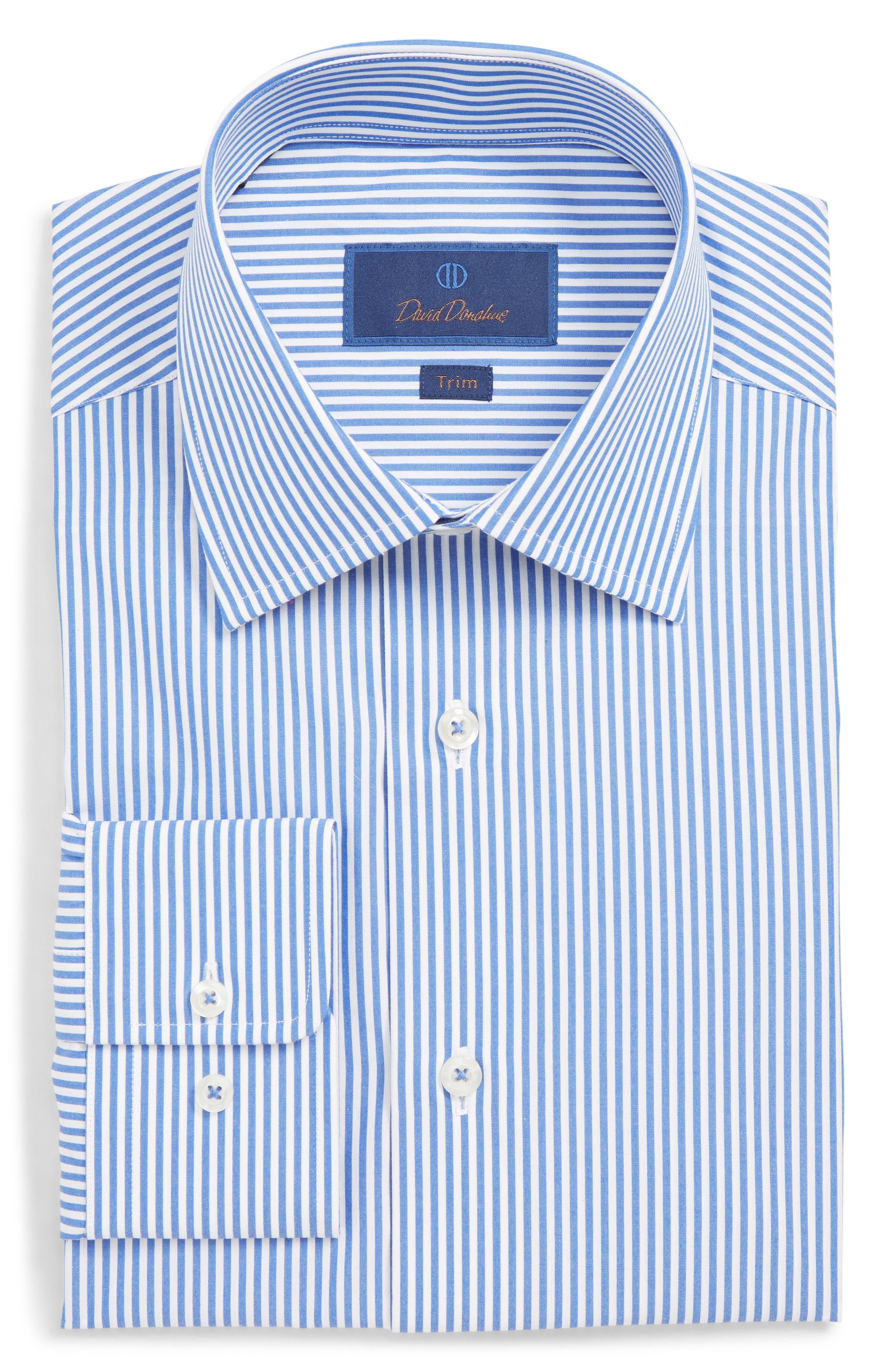 David Donahue Mens Brass Dress Shirt Collar Stays Package Of 18