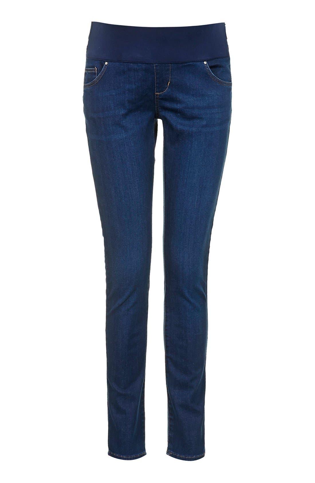 Alternate Image 3  - Topshop Moto 'Leigh' Maternity Skinny Jeans (Regular & Short)