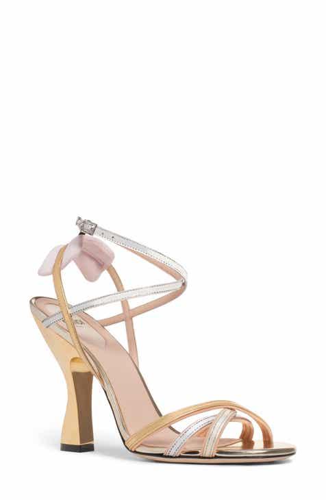 409d340a8e2 Fendi Colibri Strappy Metallic Sandal (Women)