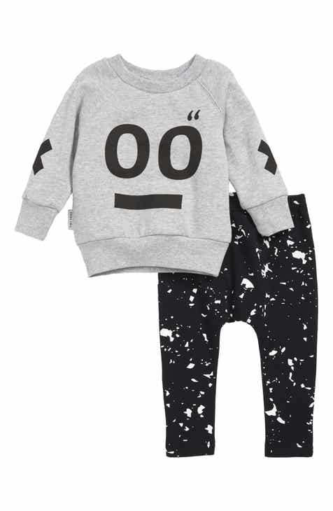 TINY TRIBE Face Sweatshirt & Leggings Set (Baby)