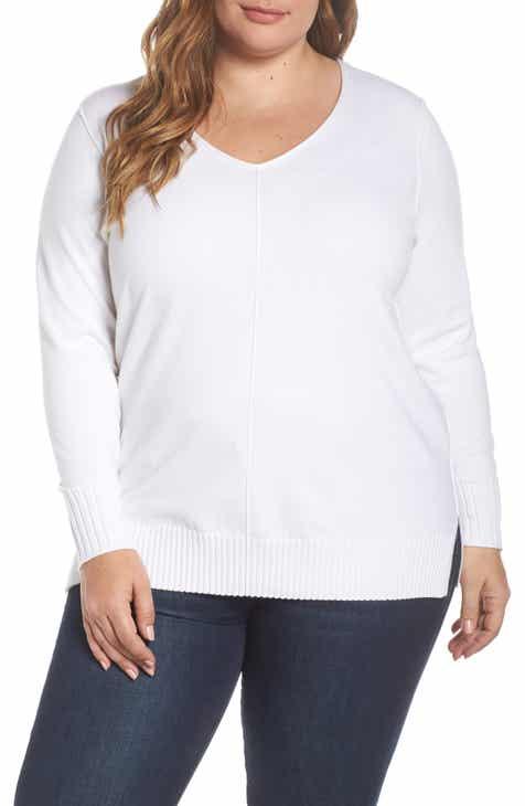 dc23399bc5eb4 Caslon® Side Slit Sweater (Plus Size)
