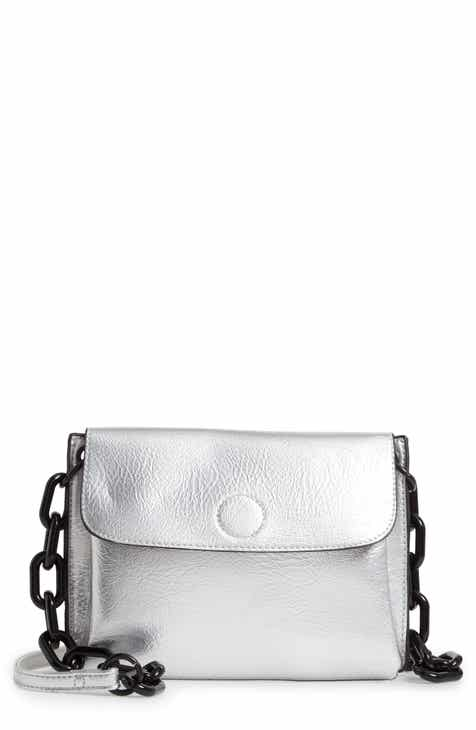 Violet Ray New York Metallic Faux Leather Crossbody Bag f84287106acea