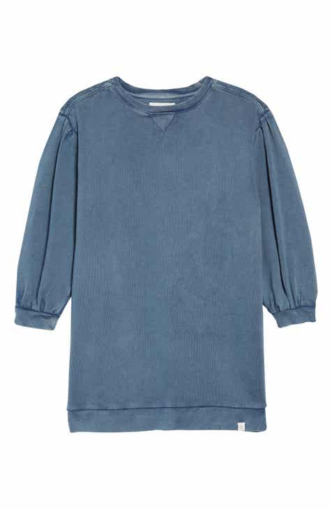 Treasure & Bond Bubble Sleeve Sweatshirt Dress (Big Girls)