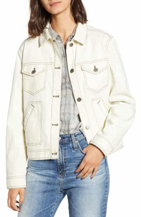 25d8d997106 Utility Denim Trucker Jacket (Regular   Plus Size)
