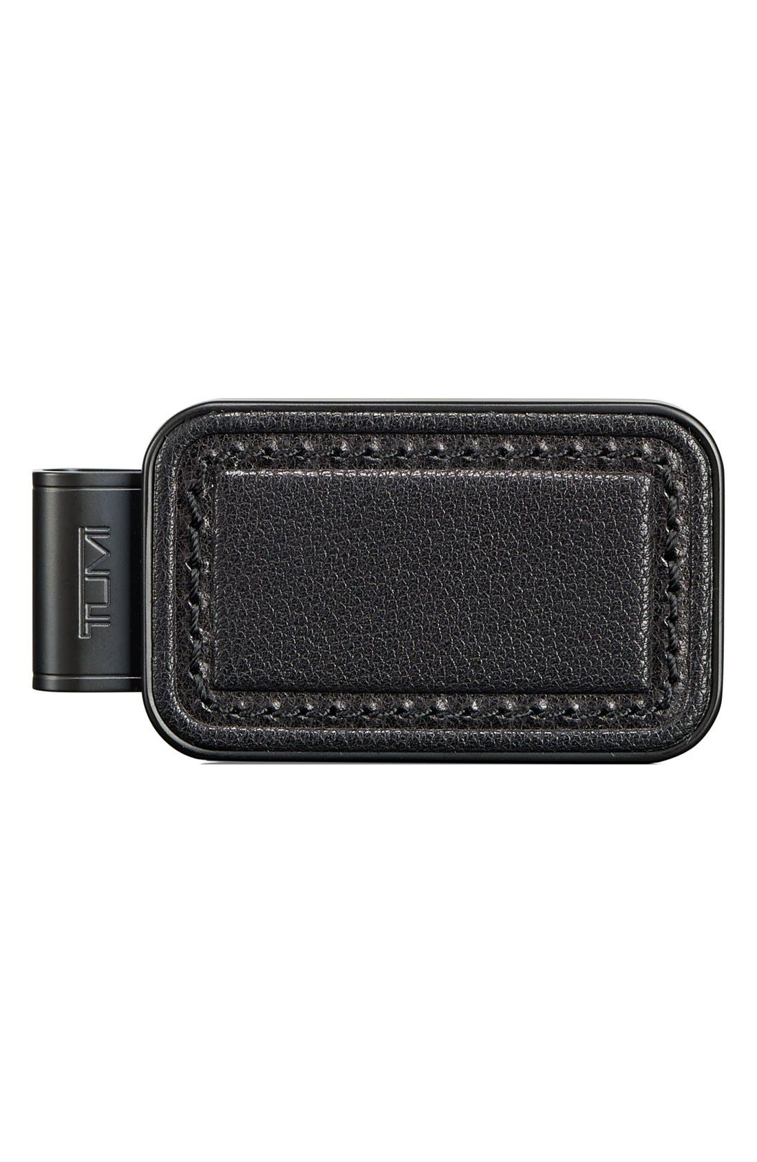 'Chambers' Leather Money Clip,                         Main,                         color, Black