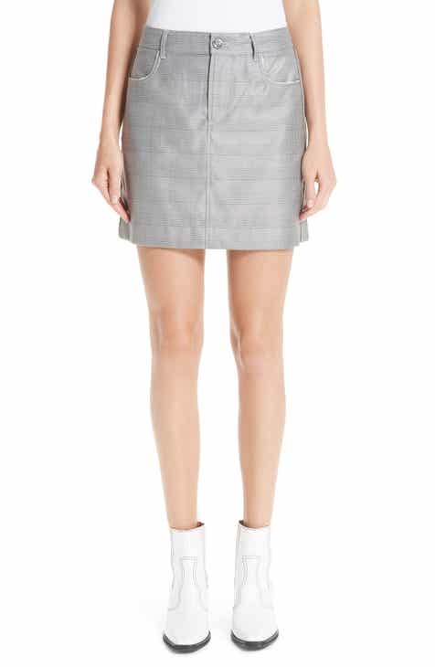 Ganni Silk & Wool Suiting Skirt by GANNI