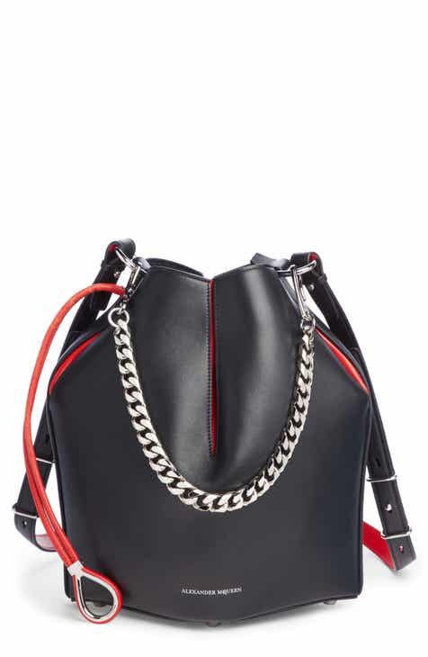 Alexander Mcqueen Bicolor Leather Bucket Bag