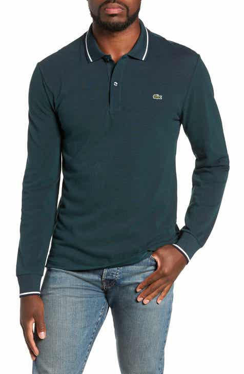 fdc5b3bc94c77f Lacoste Slim Fit Long Sleeve Piqué Polo