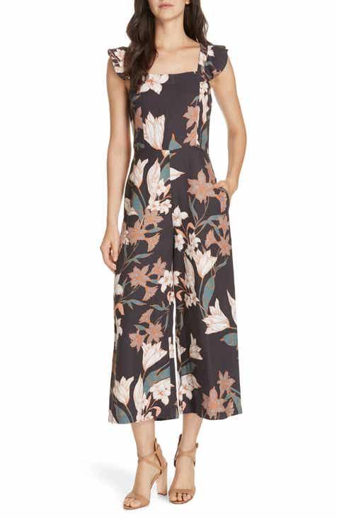 2111644dd2a13 Dolan Domino Floral Print Ankle Jumpsuit
