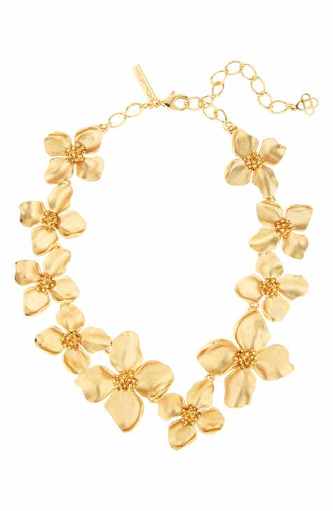 459011b6270b Oscar de la Renta Flower Collar Necklace