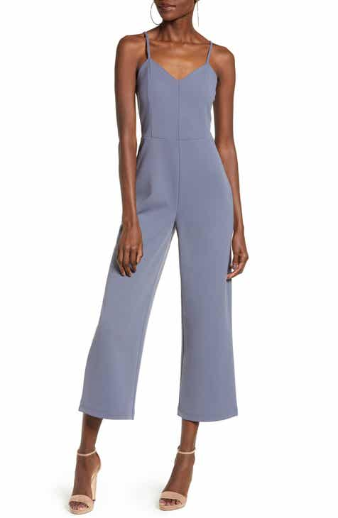 Tibi Belted Wide Leg Nylon Jumpsuit with Removable Straps by TIBI