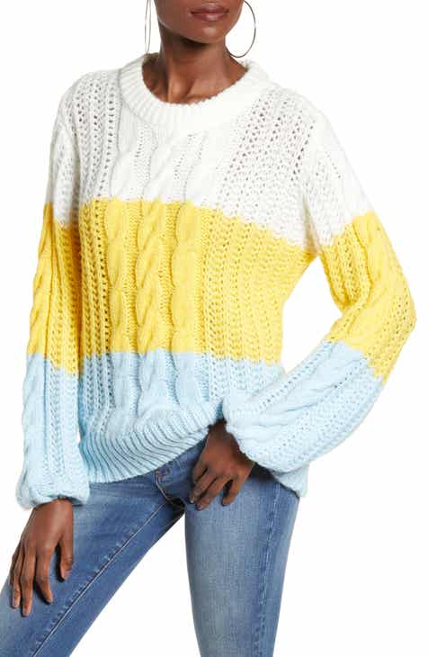 6556c6bb8d VERO MODA Becca Colorblock Chunky Cable Sweater