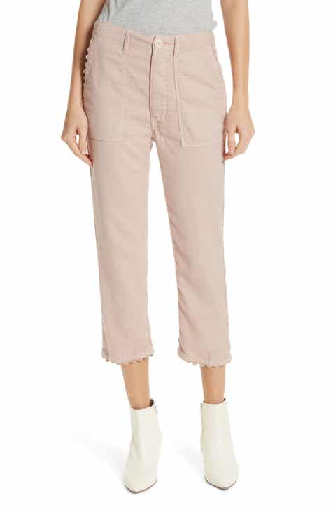 Vince Camuto Stretch Cotton Blend Ankle Trousers (Plus Size) by VINCE CAMUTO