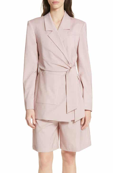 8561d28da6f Tibi Cross Dye Stretch Wool Wrap Jacket